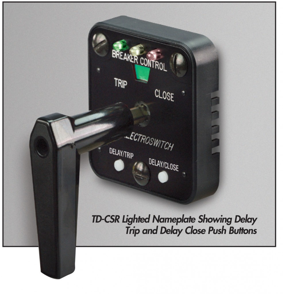 Breaker Control Switch Relay With Time Delay Trip And Close For Arc Flash Safe Operation